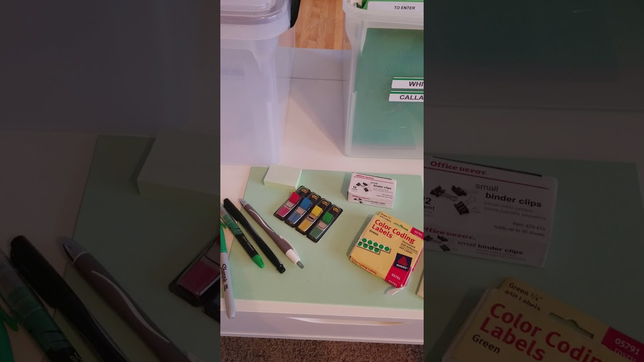 Video 1 of 5 Supplies for Genealogy Color Coded Files