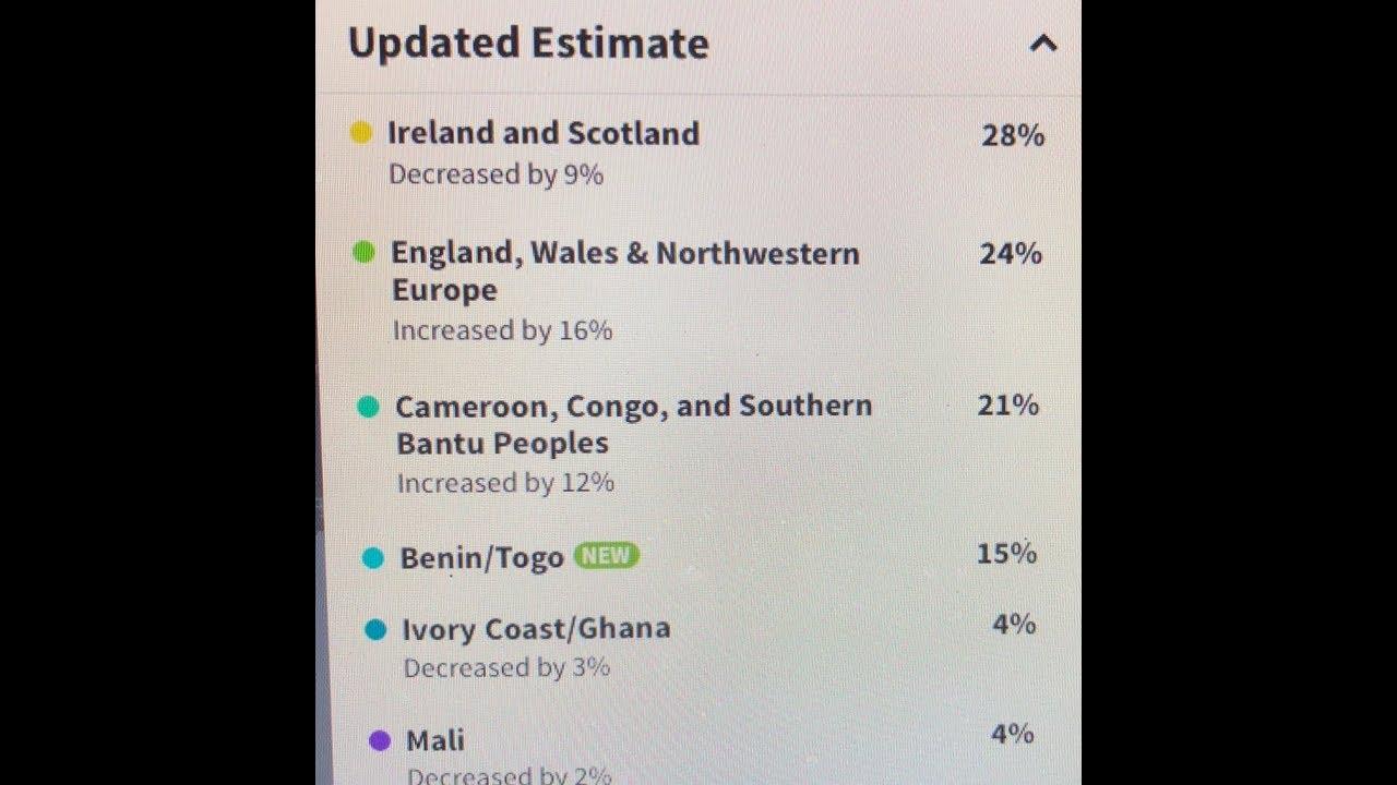 Ancestry DNA Ethnicity Update 2018
