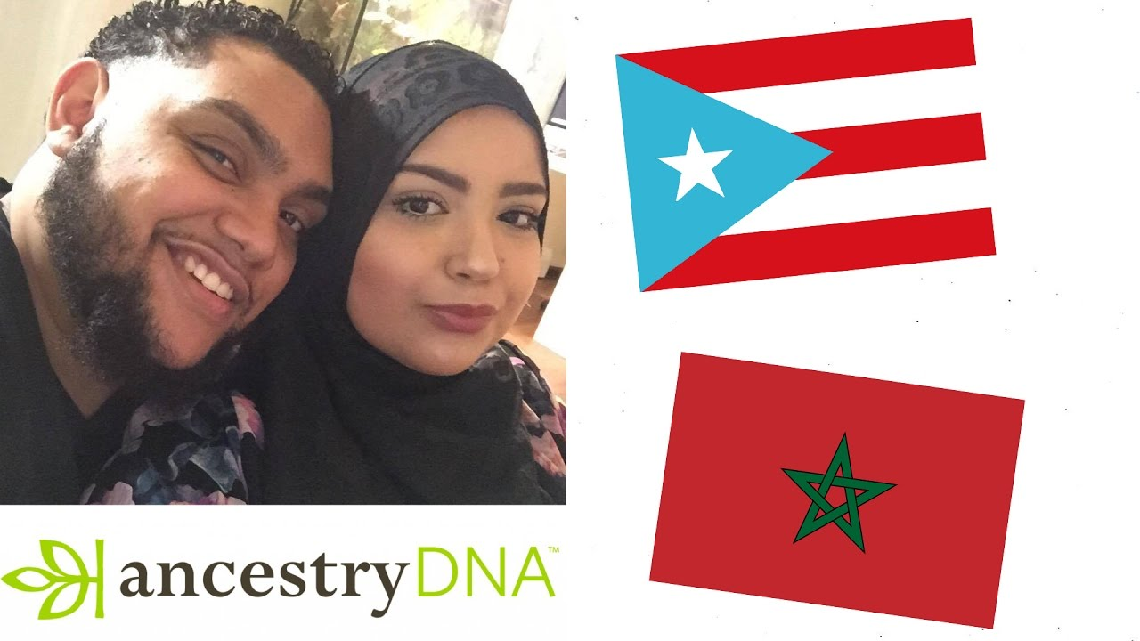 Ancestry DNA/Ged Match Couples Results – Puerto Rican & Moroccan, 2016.
