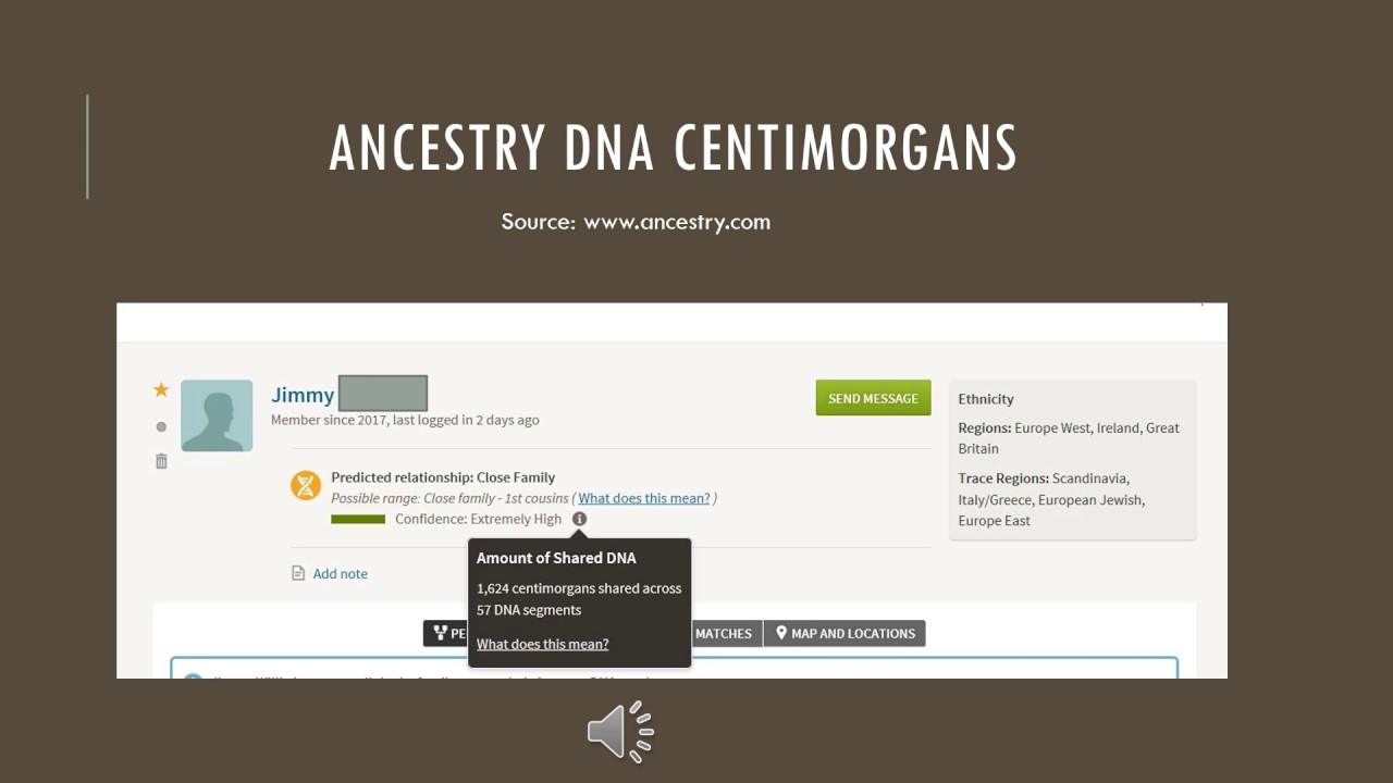 Centimorgans and Ancestry DNA