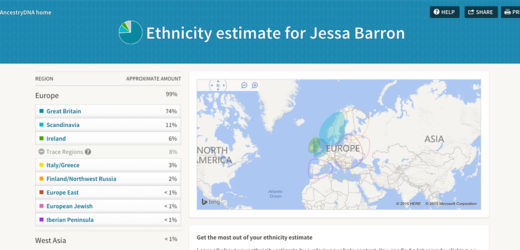 My Ancestry DNA test